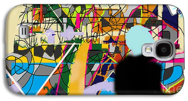 Inner Self Galaxy S4 Cases - Art And Writing 4c Galaxy S4 Case by David Baruch Wolk