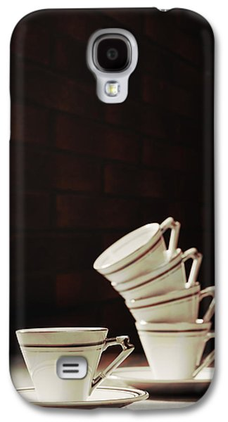Coffee Drinking Galaxy S4 Cases - Art Deco Teacups Galaxy S4 Case by Amanda And Christopher Elwell