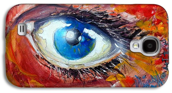 Slash Paintings Galaxy S4 Cases - Art in the eyes Galaxy S4 Case by Marcello Cicchini