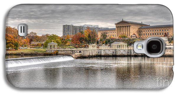 Williams Dam Galaxy S4 Cases - Art Museum Across the Schuylkill Galaxy S4 Case by Mark Ayzenberg