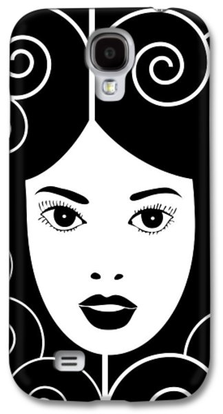 Swirly Galaxy S4 Cases - Art Nouveau Poster Galaxy S4 Case by Frank Tschakert