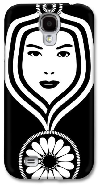 Ink Drawing Drawings Galaxy S4 Cases - Art Nouveau Woman Galaxy S4 Case by Frank Tschakert