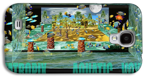 Photo Manipulation Paintings Galaxy S4 Cases - ArtaTropix- Aquatic Voyage-poster Galaxy S4 Case by Dariush Alipanah- Jahroudi