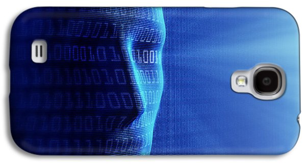 Face Digital Galaxy S4 Cases - Artificial intelligence Galaxy S4 Case by Johan Swanepoel