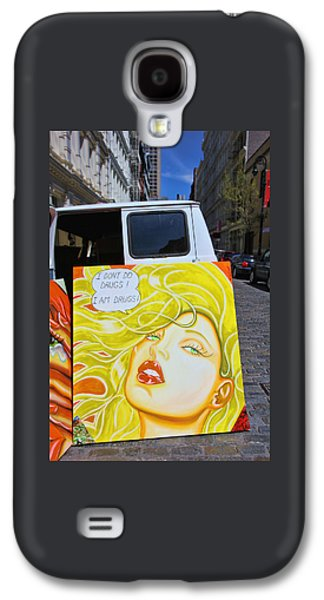 Splashy Art Galaxy S4 Cases - Artist with Attitude Galaxy S4 Case by Allen Beatty