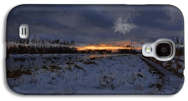 Reflection Of Sun In Clouds Galaxy S4 Cases - Artistic painterly 1  Early morning January 2015 Galaxy S4 Case by Leif Sohlman