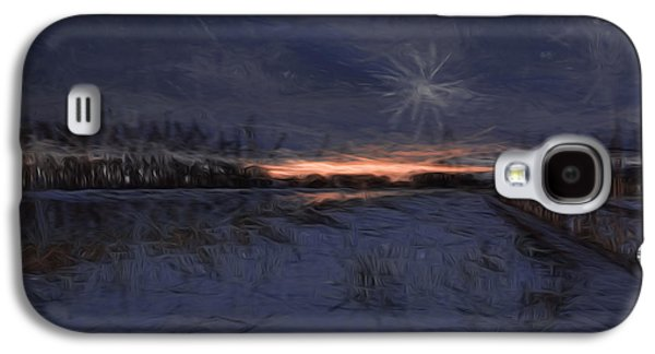 Reflection Of Sun In Clouds Galaxy S4 Cases - Artistic Painterly 2 Early Morning January 2015 Galaxy S4 Case by Leif Sohlman