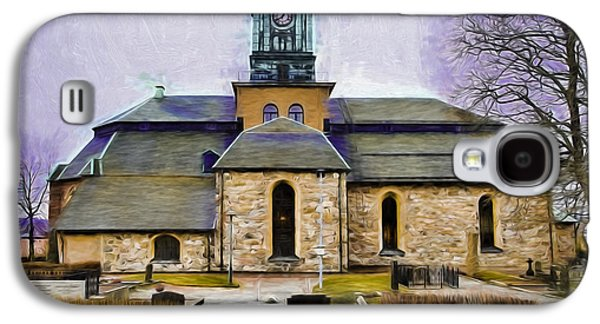 Paiting Galaxy S4 Cases - Artistic presentation of #Varfukyrkan enkoping viewed from north Galaxy S4 Case by Leif Sohlman
