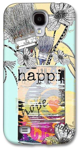 Surtex Licensing Galaxy S4 Cases - HAPPY Flower Boho Art Print Galaxy S4 Case by Anahi DeCanio - ArtyZen Studios