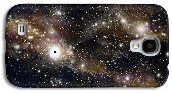 Jet Star Galaxy S4 Cases - Artists Concept Of A Black Hole Galaxy S4 Case by Marc Ward