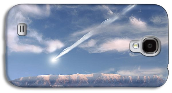 Concept Photographs Galaxy S4 Cases - Artists Depiction Of A Large Meteor Galaxy S4 Case by Marc Ward