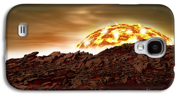 Planetoid Galaxy S4 Cases - Artists Depiction Of An Alien World Galaxy S4 Case by Marc Ward