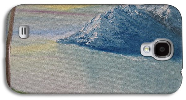 Bob Ross Paintings Galaxy S4 Cases - As Big As The Mountain Galaxy S4 Case by Sayali Mahajan