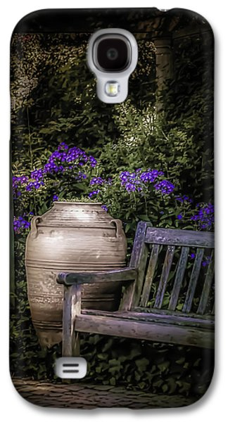 Garden Scene Galaxy S4 Cases - As Evening Falls Galaxy S4 Case by Julie Palencia