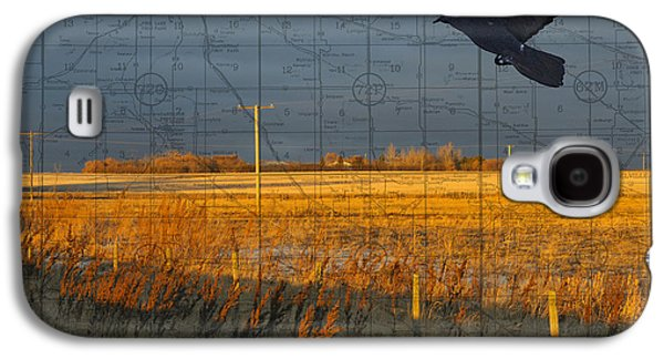 Judy Wood Galaxy S4 Cases - As the Crow Flies-fall fields Galaxy S4 Case by Judy Wood