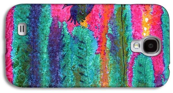 Crows Black Paintings Galaxy S4 Cases - As the Crow Flies Galaxy S4 Case by Marie Stone Van Vuuren
