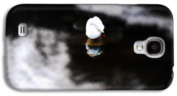 Photo Manipulation Galaxy S4 Cases - As Winter Swans  Galaxy S4 Case by Steven  Digman