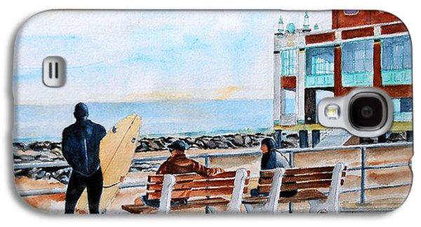 Asbury Park Paintings Galaxy S4 Cases - Asbury Park Surfers Galaxy S4 Case by Brian Degnon