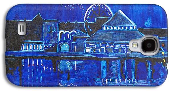 Asbury Park Casino Paintings Galaxy S4 Cases - Asbury Parks Night Memories Galaxy S4 Case by Patricia Arroyo