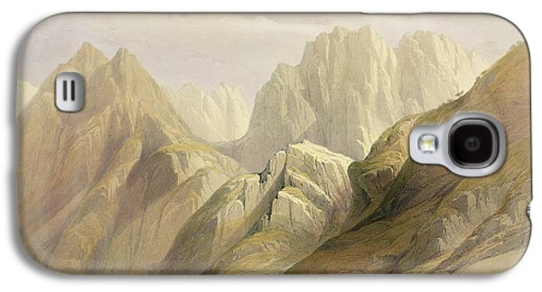 Orientalists Galaxy S4 Cases - Ascent of the Lower Range of Sinai Galaxy S4 Case by David Roberts