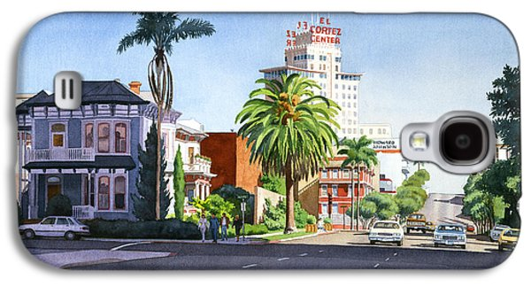 City Scape Galaxy S4 Cases - Ash and Second Avenue in San Diego Galaxy S4 Case by Mary Helmreich