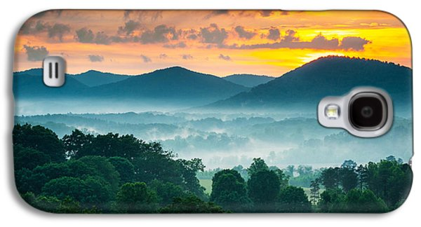 Open Photographs Galaxy S4 Cases - Asheville NC Blue Ridge Mountains Sunset - Welcome to Asheville Galaxy S4 Case by Dave Allen
