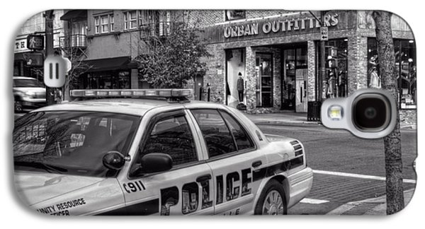 Asheville Galaxy S4 Cases - Asheville PD Car 54 in Black and White Galaxy S4 Case by Greg and Chrystal Mimbs