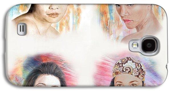 Beauty Mark Mixed Media Galaxy S4 Cases - Asian Beauties  Galaxy S4 Case by Jim Fitzpatrick