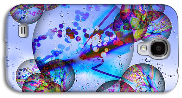 Abstract Digital Digital Art Galaxy S4 Cases - Asian Bubbles in Rain Galaxy S4 Case by Anthony Caruso