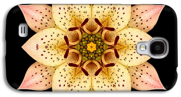 David J Bookbinder Galaxy S4 Cases - Asiatic Lily Flower Mandala Galaxy S4 Case by David J Bookbinder