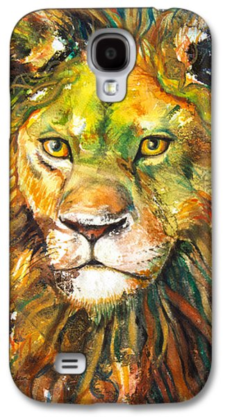 Courage Paintings Galaxy S4 Cases - Aslan Galaxy S4 Case by Patricia Allingham Carlson
