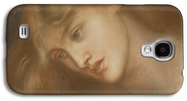Portraits Pastels Galaxy S4 Cases - Aspecta Medusa Galaxy S4 Case by Dante Charles Gabriel Rossetti