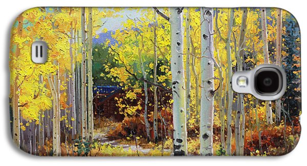 Aspen Galaxy S4 Cases - Aspen Cabin Galaxy S4 Case by Gary Kim