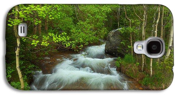 Landscape Acrylic Prints Galaxy S4 Cases - Aspen Creek Galaxy S4 Case by Darren  White