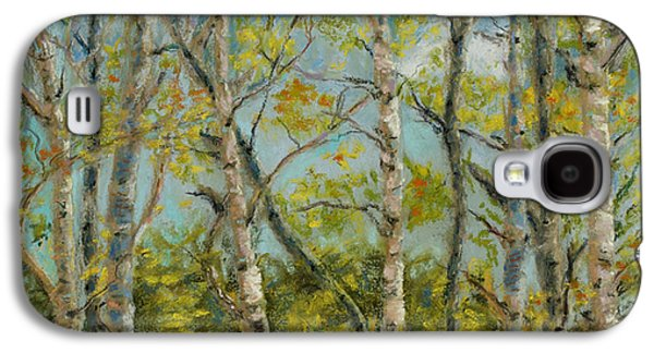 Park Scene Pastels Galaxy S4 Cases - Aspen Glow Galaxy S4 Case by Mary Benke