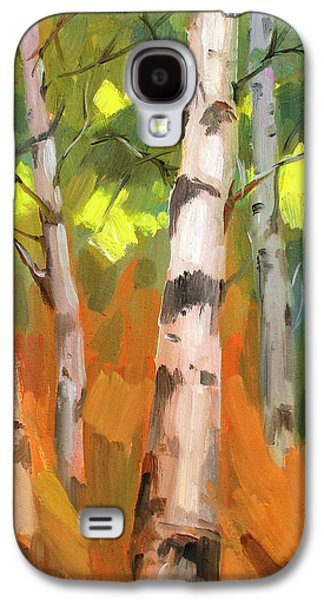 Change Paintings Galaxy S4 Cases - Aspen Trees Galaxy S4 Case by Diane McClary