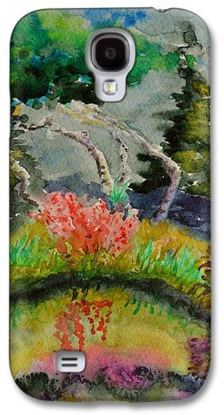 Alga Paintings Galaxy S4 Cases - Aspens On Acid Galaxy S4 Case by Beverley Harper Tinsley