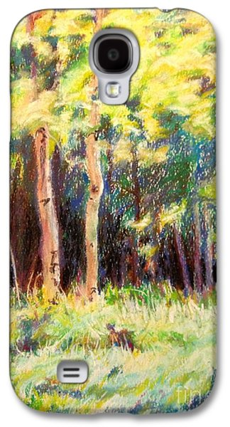 Landscape Acrylic Prints Pastels Galaxy S4 Cases - Aspens on the North Rim Galaxy S4 Case by Katrina West