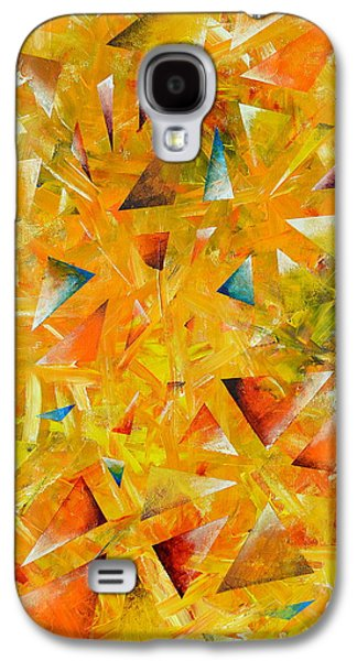 Constellations Paintings Galaxy S4 Cases - Asterisms Galaxy S4 Case by Regina Valluzzi