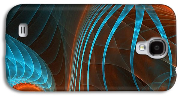 Fractal Art Galaxy S4 Cases - Astonished-Fractal Art Galaxy S4 Case by Lourry Legarde