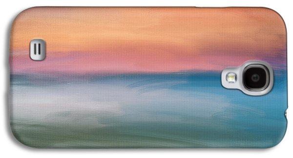 Sunset Abstract Digital Galaxy S4 Cases - Astound Galaxy S4 Case by Lourry Legarde
