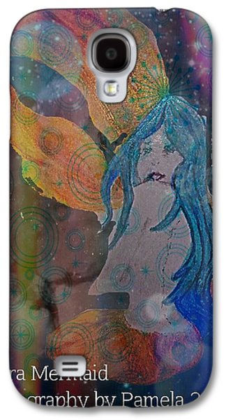 Constellations Drawings Galaxy S4 Cases - Astral Mermaid Galaxy S4 Case by ARTography by Pamela  Smale Williams