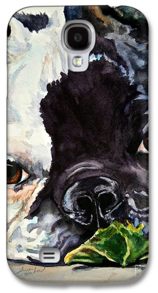 Dog Close-up Paintings Galaxy S4 Cases - Astro Galaxy S4 Case by Susan Herber