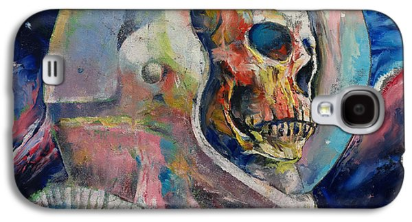 Gothic Paintings Galaxy S4 Cases - Astronaut Galaxy S4 Case by Michael Creese
