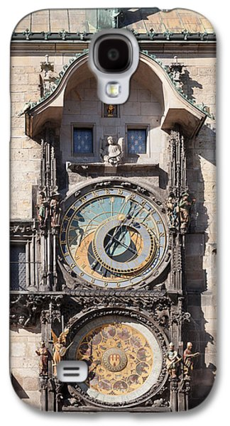 Town Square Galaxy S4 Cases - Astronomical Clock At The Old Town Galaxy S4 Case by Panoramic Images
