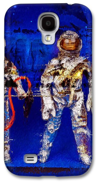 Science Fiction Mixed Media Galaxy S4 Cases - Astrotwins Galaxy S4 Case by Russell Pierce