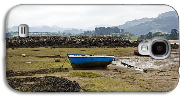 Rainy Day Photographs Galaxy S4 Cases - Asturias Seascape With Boats Galaxy S4 Case by Frank Tschakert