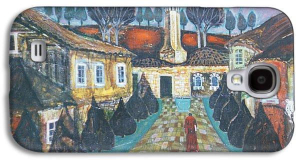 Folk Art Photographs Galaxy S4 Cases - At Dawn, 1975 Oil On Canvas Galaxy S4 Case by Radi Nedelchev