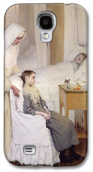 Mercy Galaxy S4 Cases - At Notre-Dame du Perpetuel Bon Secours Hospital Galaxy S4 Case by Henri Jules Jean Geoffroy