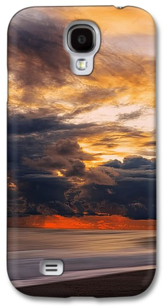 Sunset Abstract Galaxy S4 Cases - At Peace Galaxy S4 Case by Lourry Legarde